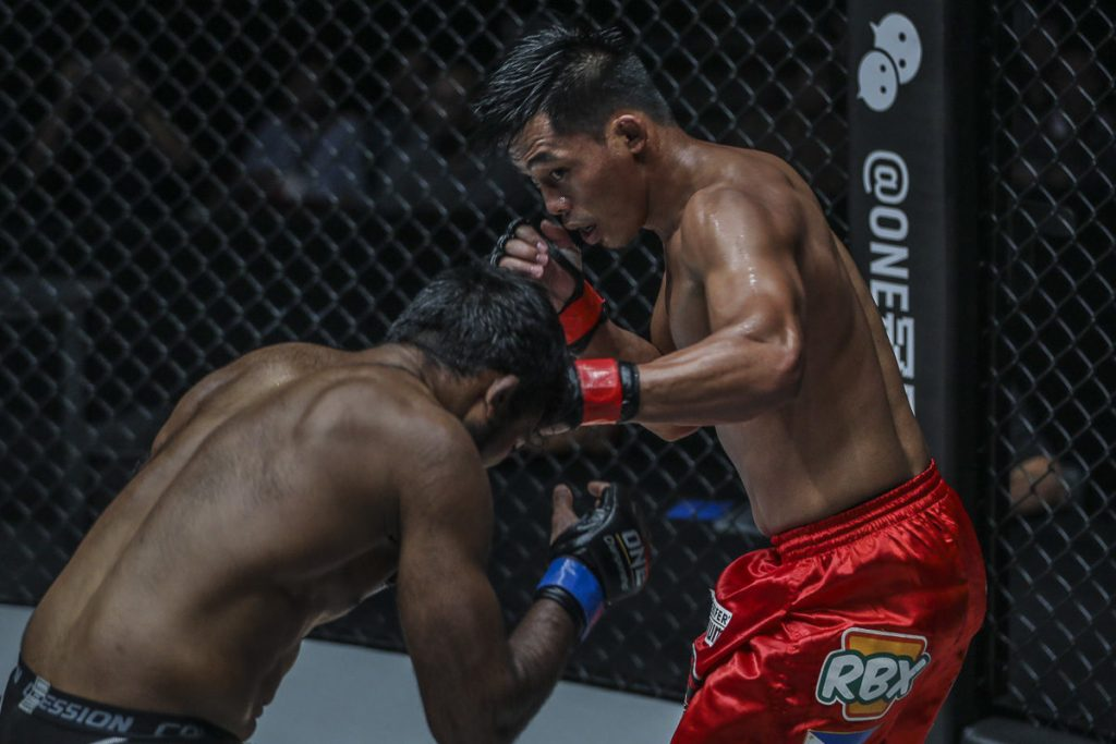 Honorio Banario in action inside the ONE cage