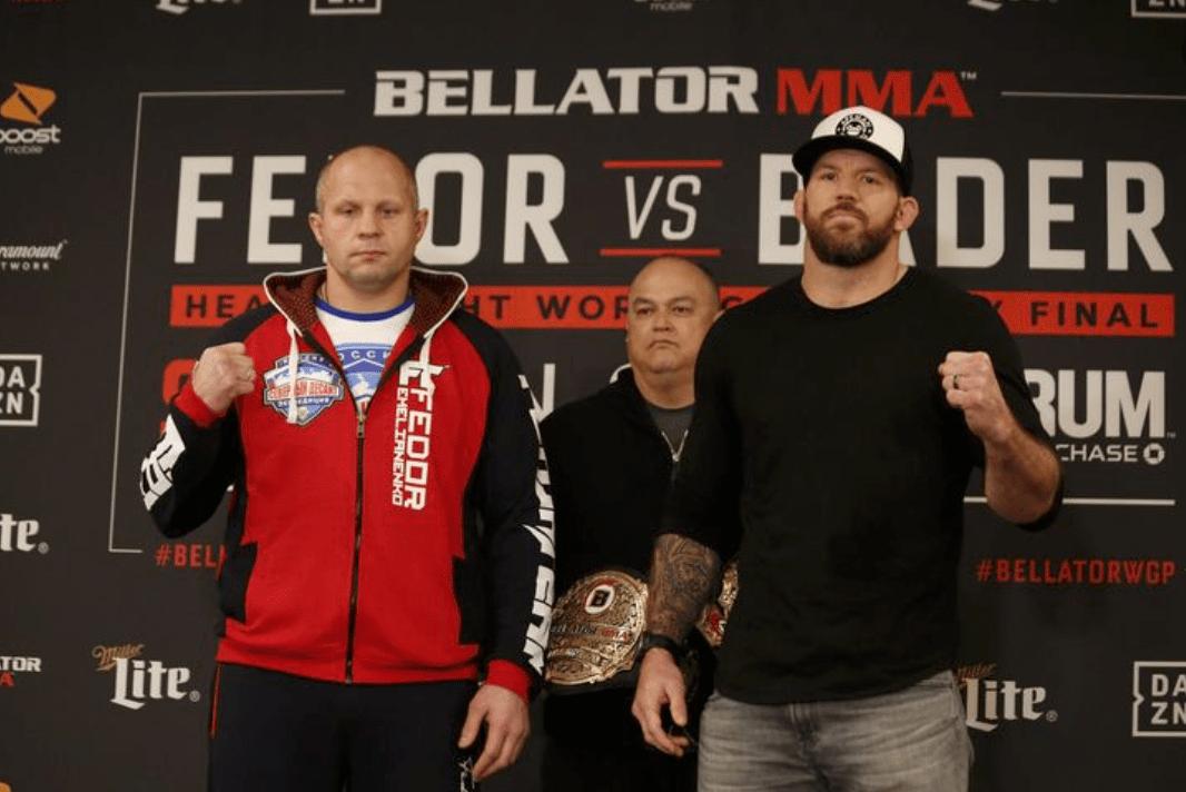 Bellator MMA Announce TV Ratings For Fedor vs Bader