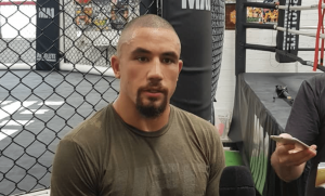 Robert Whittaker UFC 234 media scrum