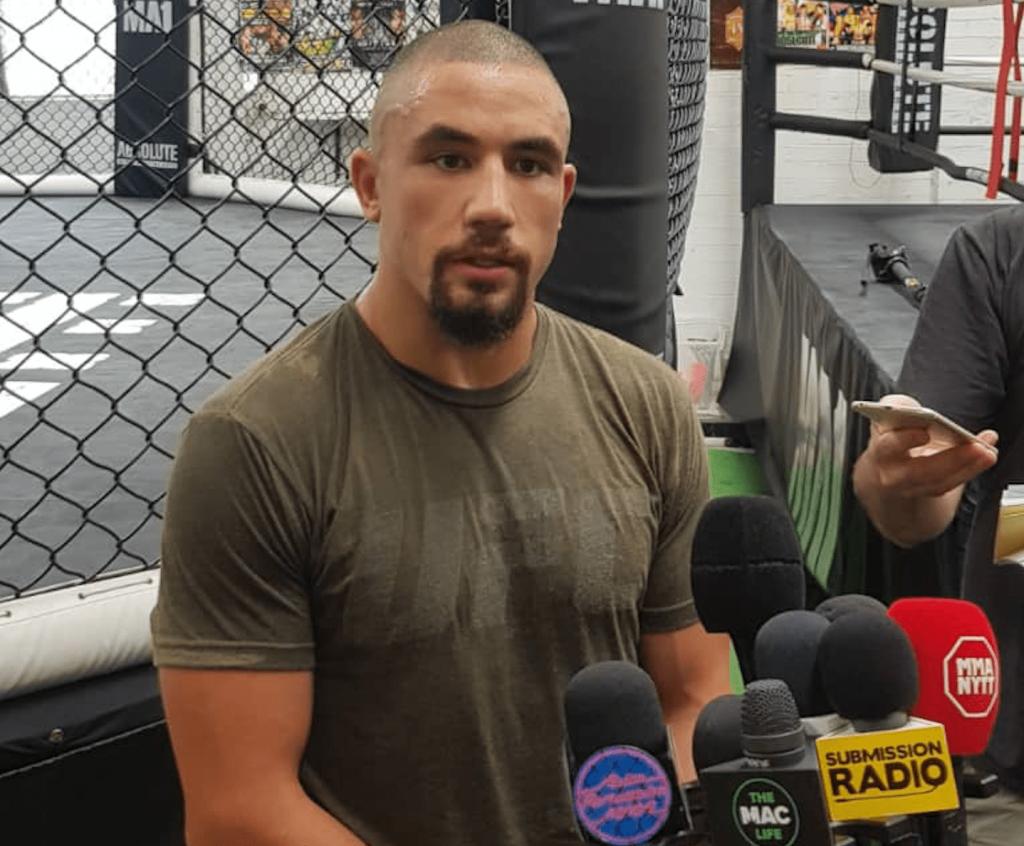 UFC 234 Media Scrum Robert Whittaker