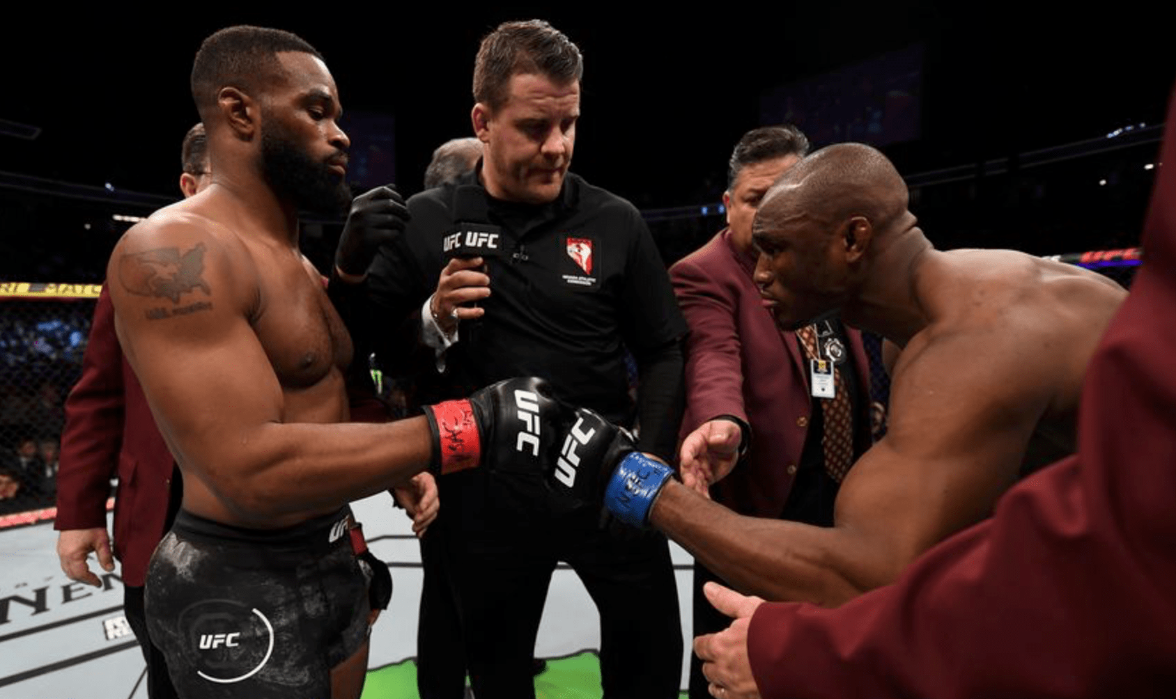 Kamaru Usman Criticises Tyron Woodley For Ducking Opponents