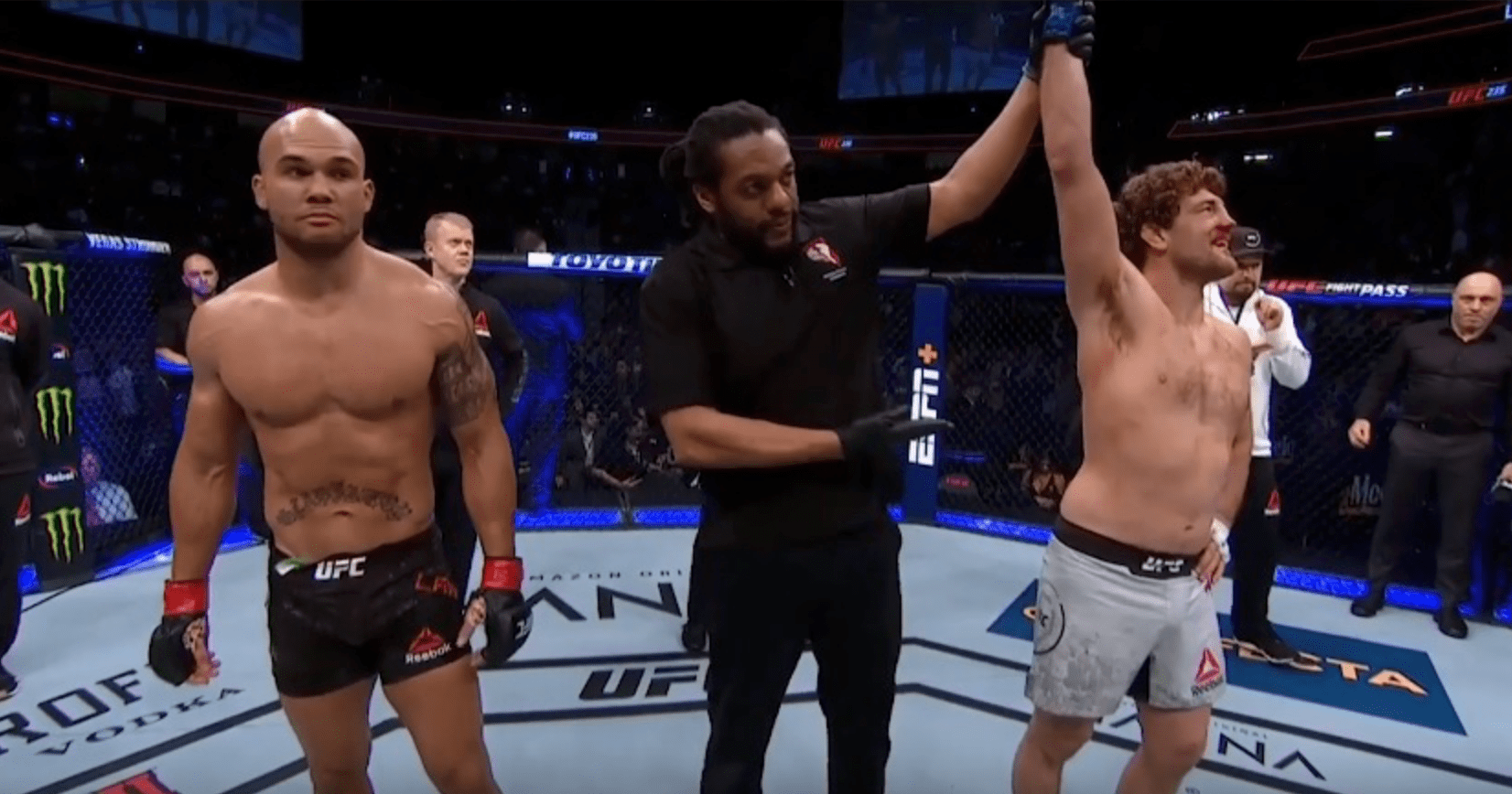 Herb Dean Defends His Controversial Askren vs Lawler Stoppage