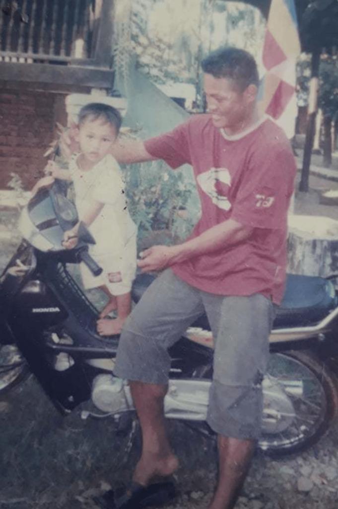Sai Maung Maung and his dad Shwe Sai