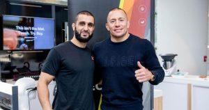 UFC Firas Zahabi and Georges St-Pierre GSP