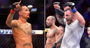 Max Holloway and Alex Volkanovski UFC 245
