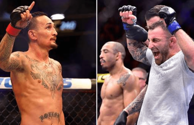 Alex Volkanovski And Max Holloway Trade Blows Ahead Of UFC 251