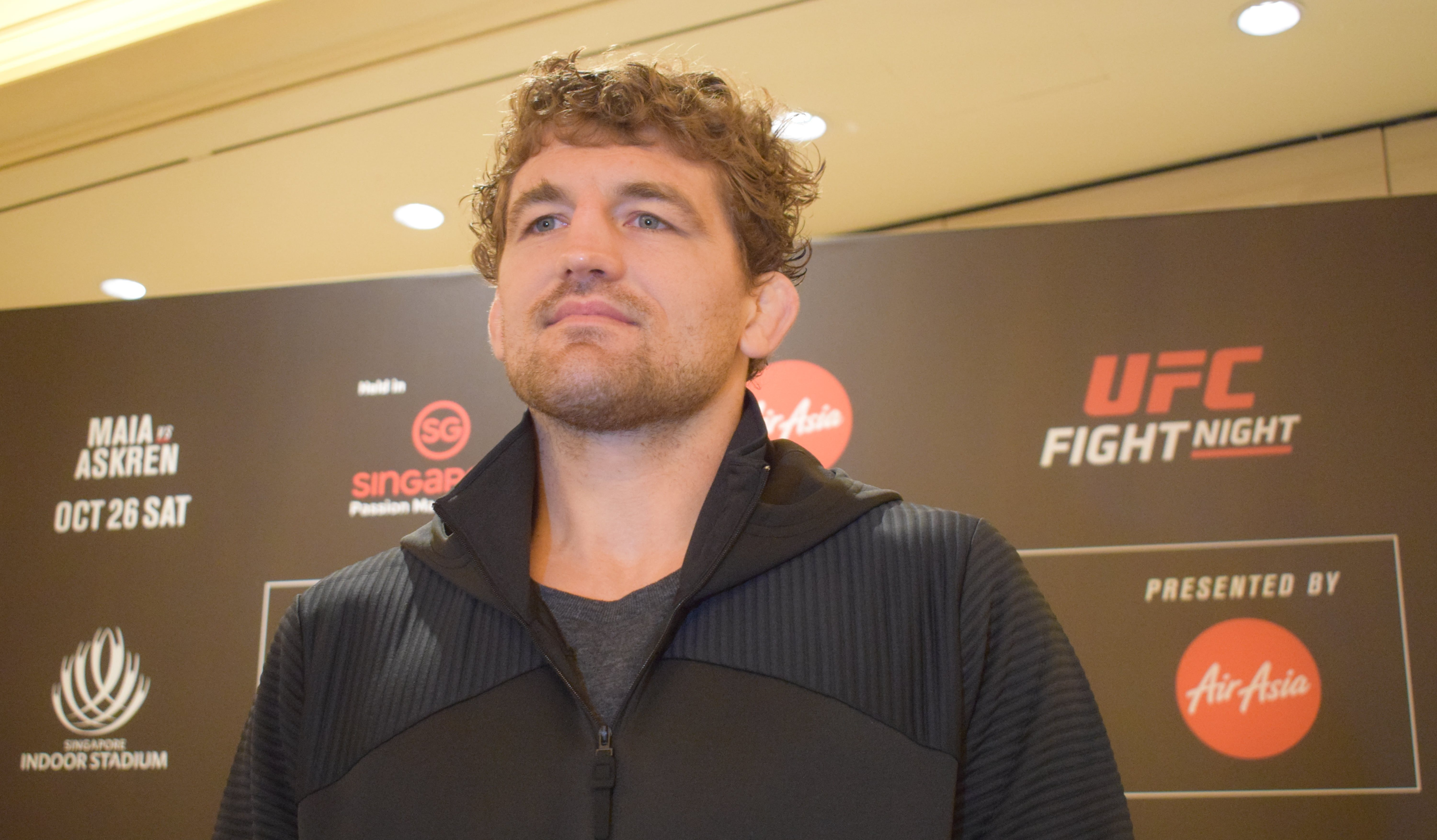 Ben Askren at UFC Singapore