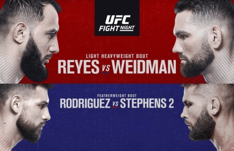 UFC Boston Results: Reyes vs Weidman
