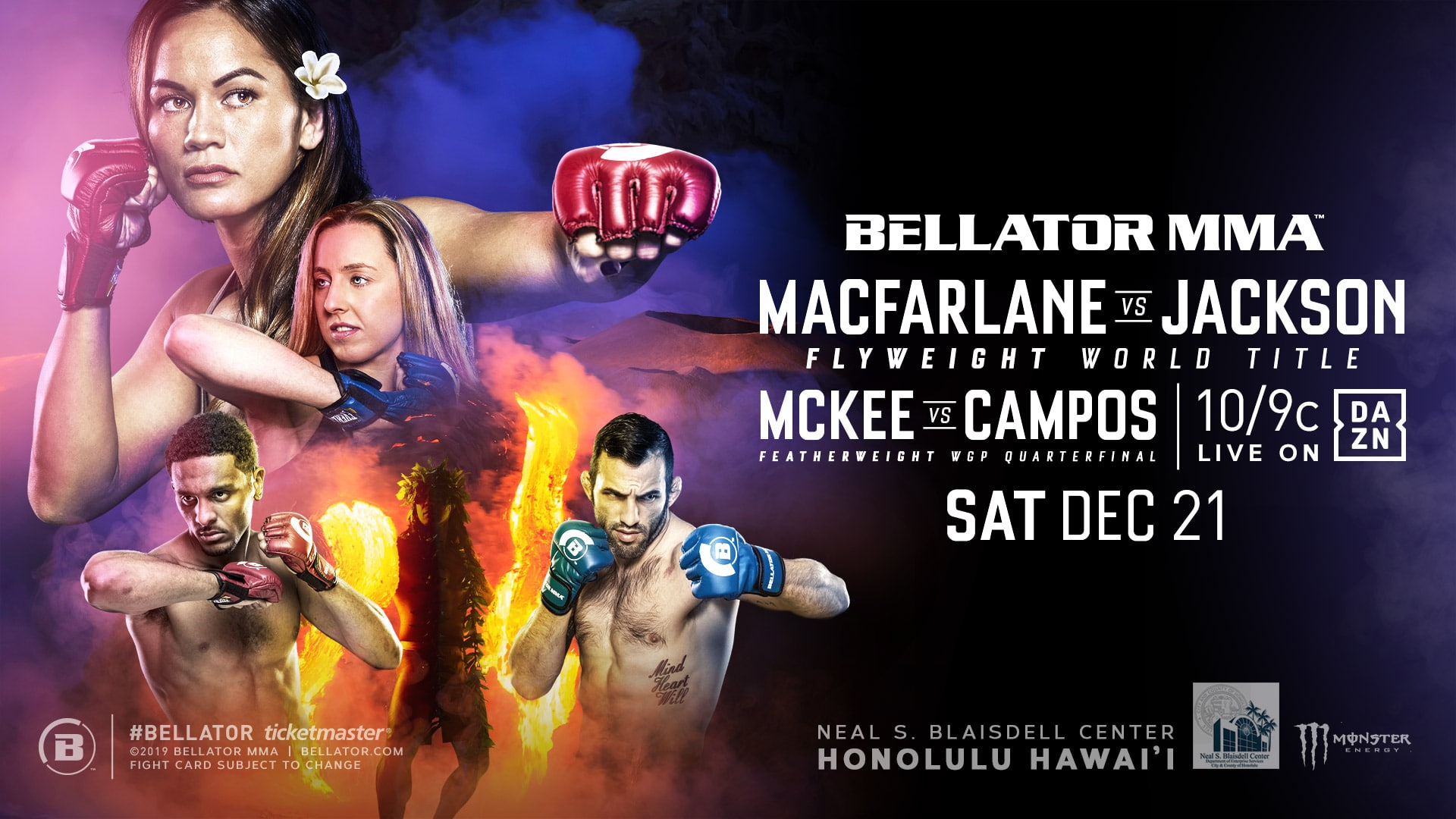 Two Fights Added To Bellator Hawaii Card On December 21