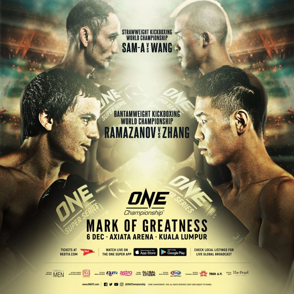 ONE: Mark Of Greatness, Alaverdi Ramazanov vs Zhang Chenglong, Sam-A Gaiyanghadao vs Wang Junguang