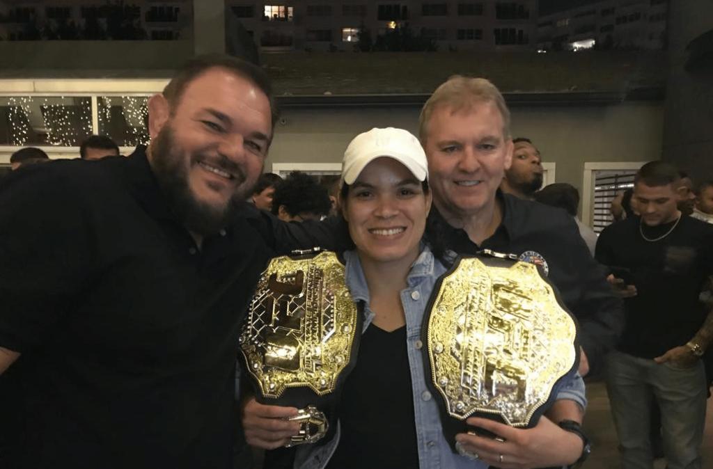 Amanda Nunes, Dan Lambert and 'Conan' Silveira