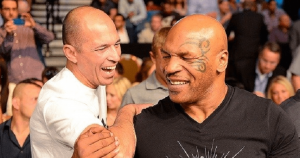 Royce Gracie and Mike Tyson