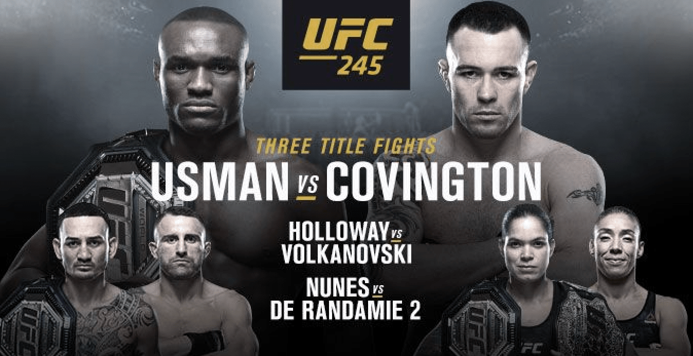 UFC 245: Usman vs Covington Results
