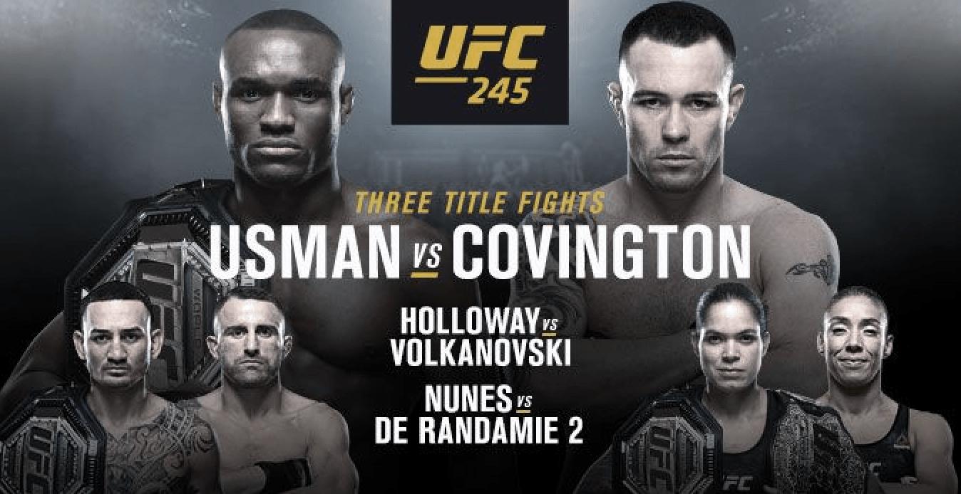 UFC 245: Usman vs Covington Results
