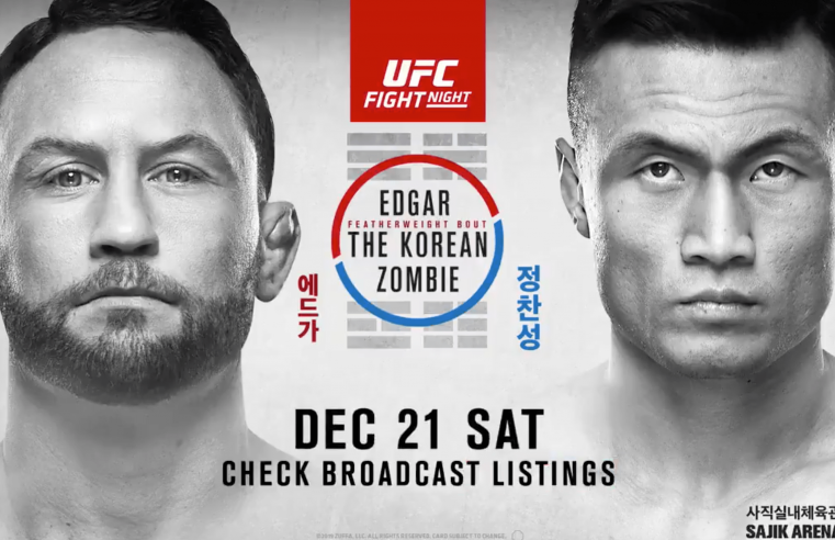 UFC Busan: Edgar vs The Korean Zombie Results