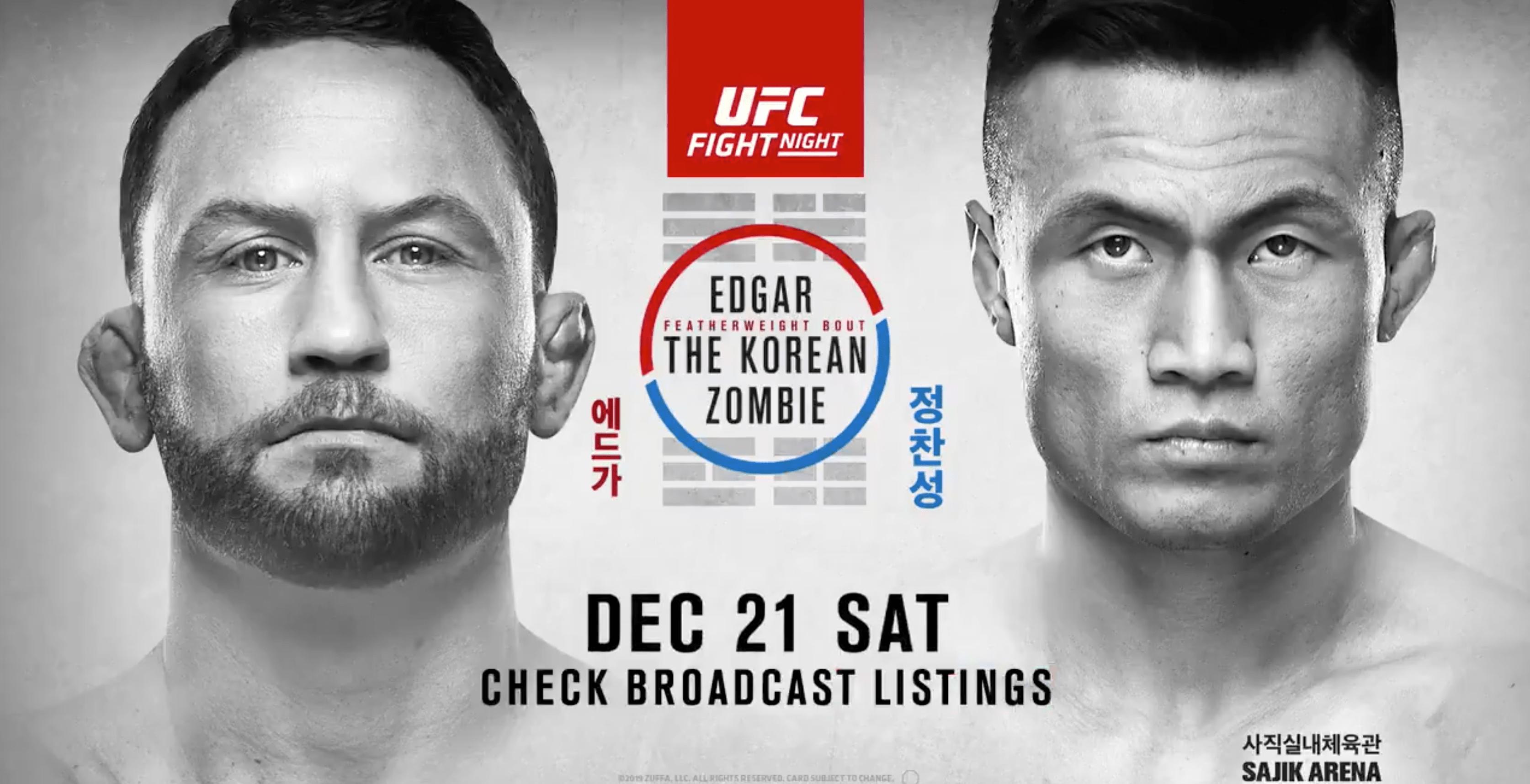 UFC Busan: Edgar vs The Korean Zombie Results