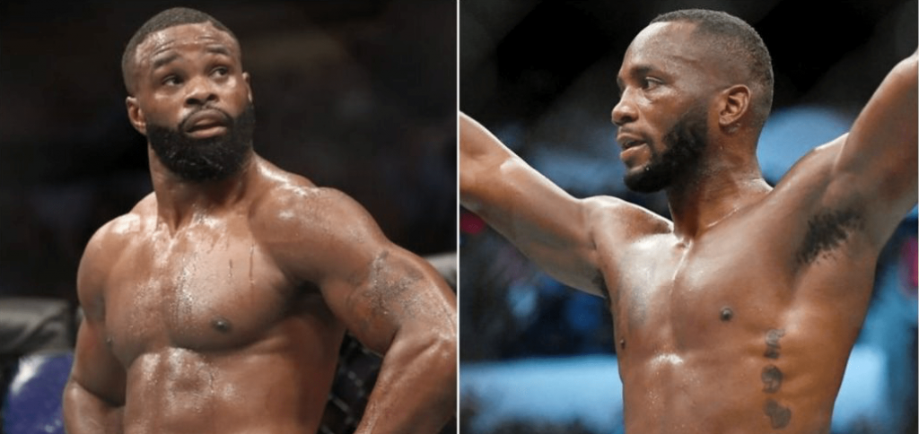 UFC Tyron Woodley and Leon Edwards