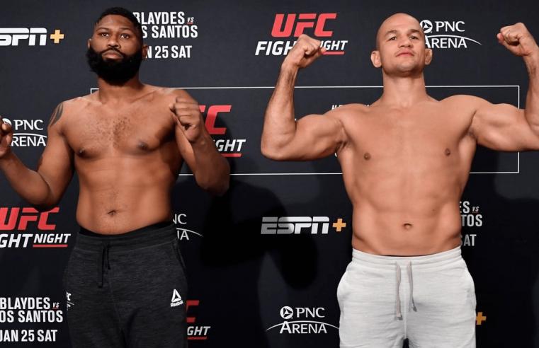 UFC Raleigh: Blaydes vs Dos Santos Results
