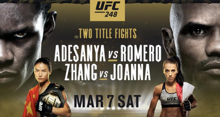 UFC 248, Israel Adesanya vs Yoel Romero, Zhang Weili vs Joanna Jedrzejczyk