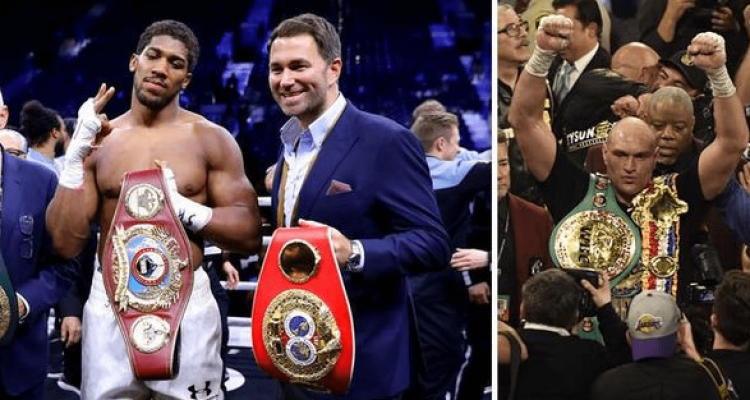 Boxing Anthony Joshua, Eddie Hearn, Tyson Fury