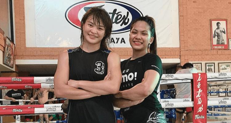 ONE Championship Stamp Fairtex and Denice Zamboanga