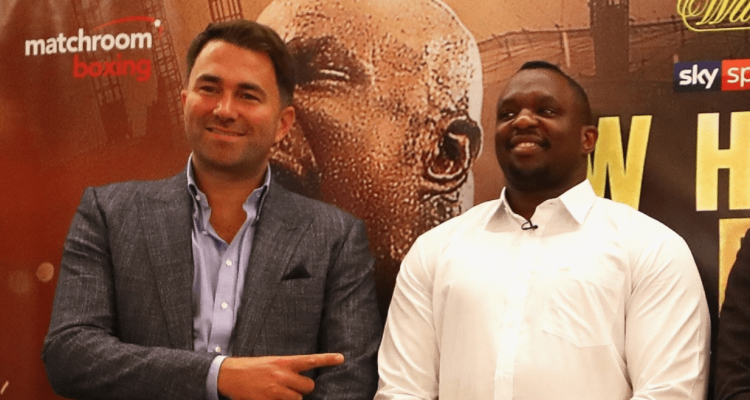 Boxing Eddie Hearn and Dillian Whyte