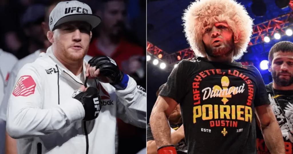 UFC Justin Gaethje and Khabib Nurmagomedov