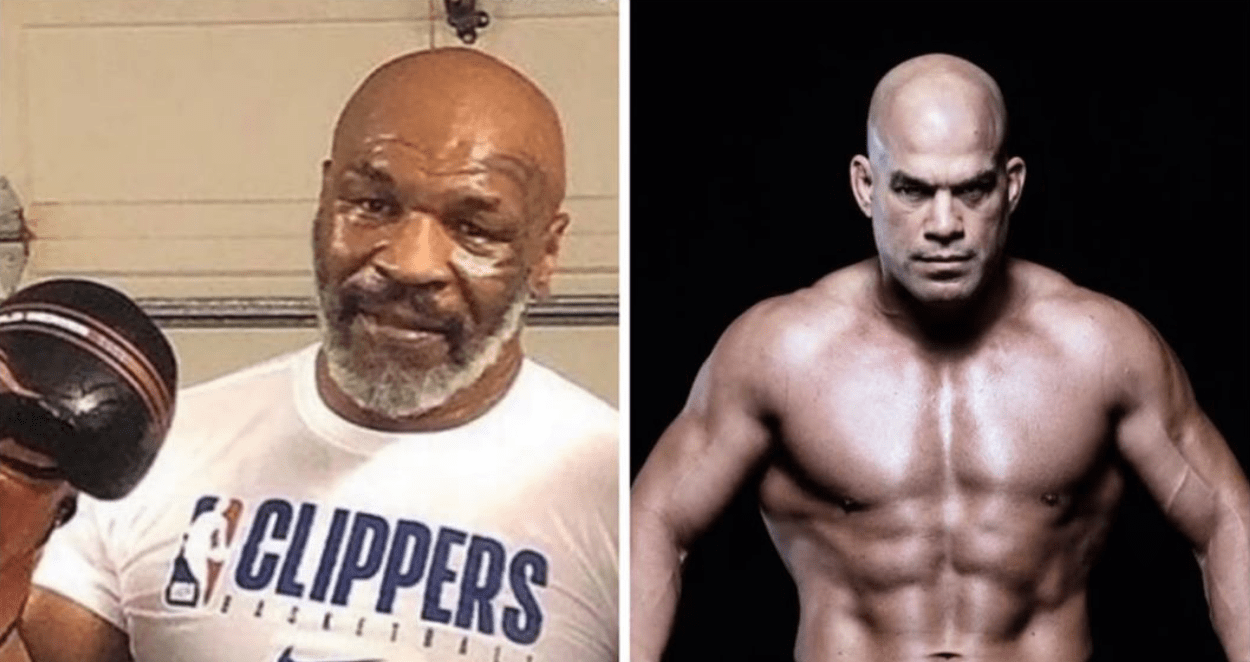 Mike Tyson and Tito Ortiz