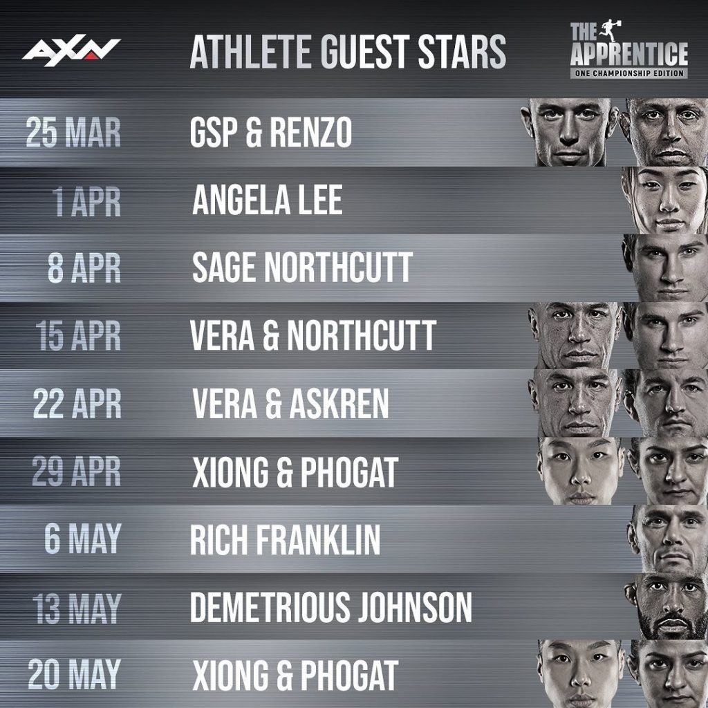 The Apprentice: ONE Championship Edition guest athletes
