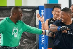 UFC Kamaru Usman and Gilbert Burns