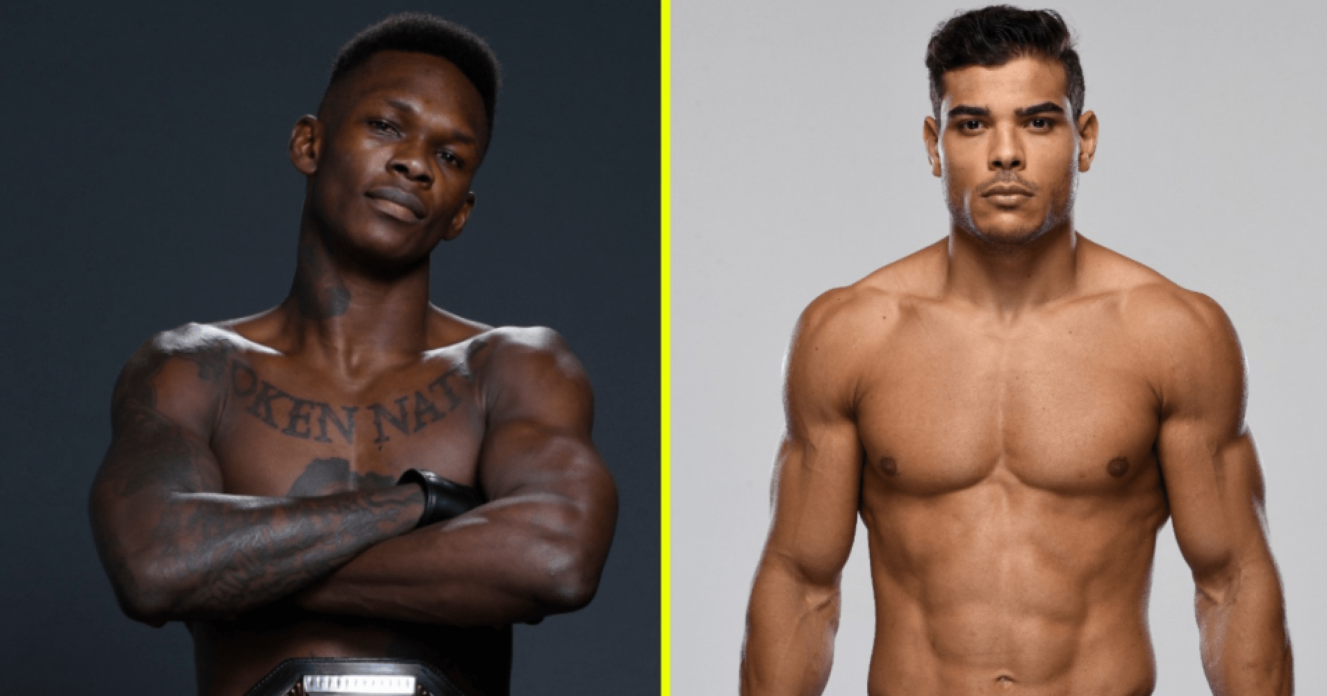 UFC Israel Adesanya and Paulo Costa
