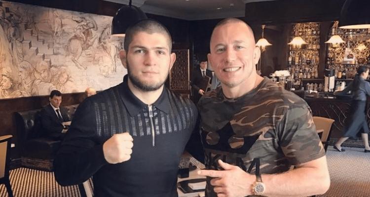 UFC Khabib Nurmagomedov and Georges St-Pierre GSP