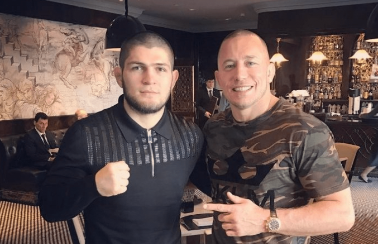Dana Tells Khabib: Give Up The Title If You Want To Fight GSP