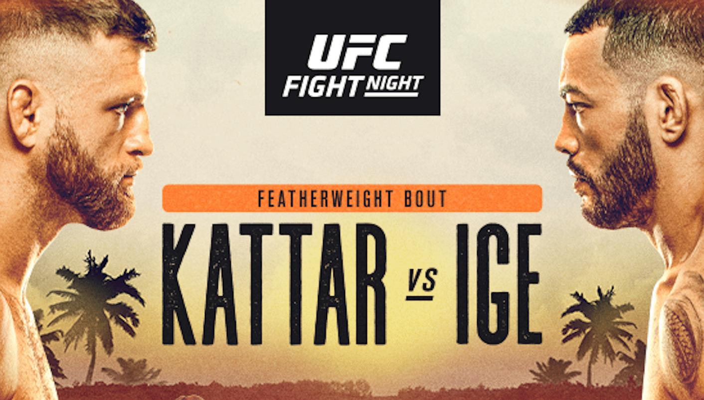 UFC Fight Island 1: Kattar vs Ige Results