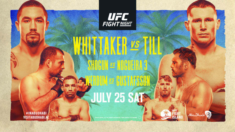 UFC Fight Island 3: Whittaker vs Till Results