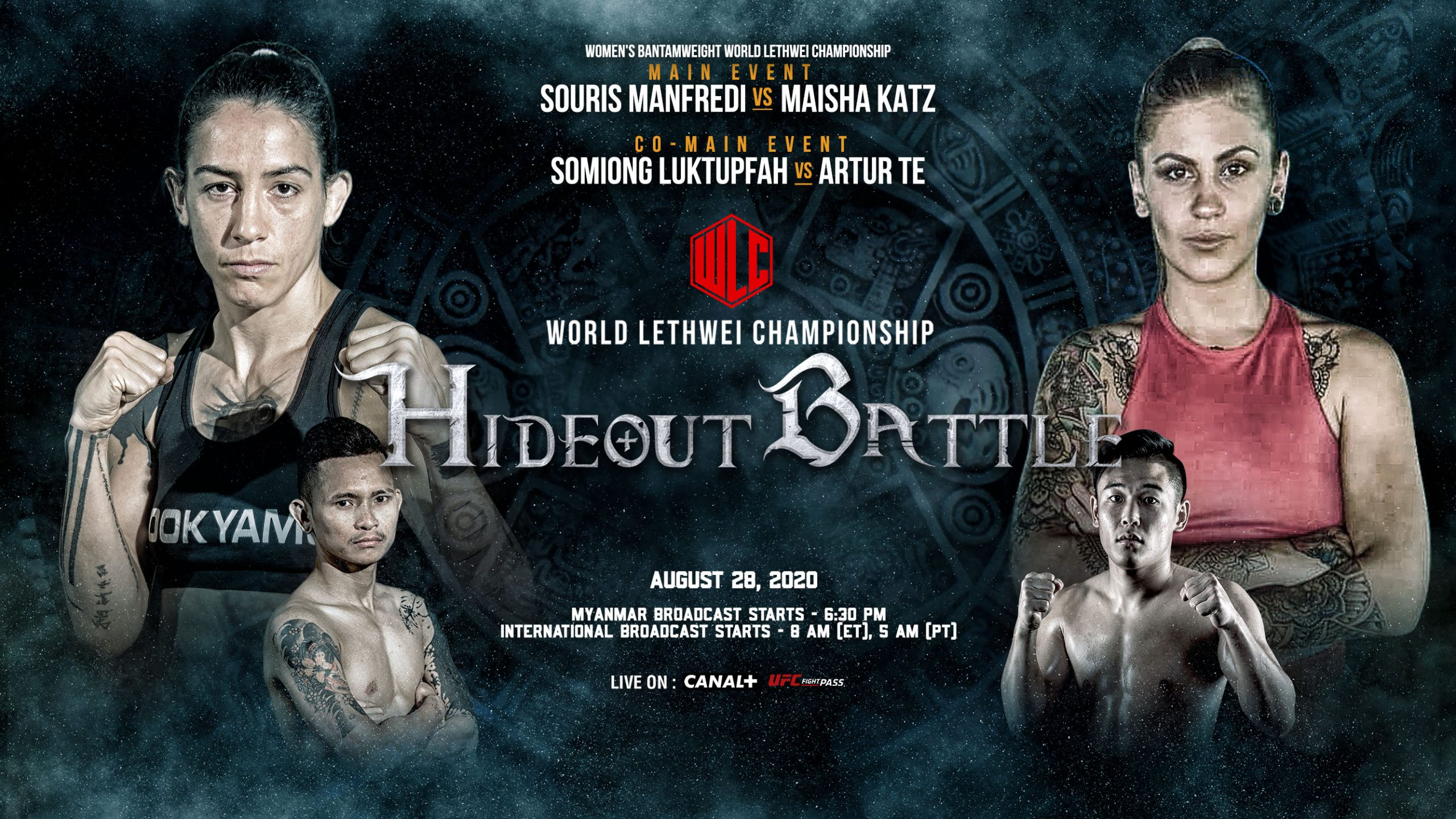 World Lethwei Championship WLC: Hideout Battle Souris Manfredi vs Maisha Katz
