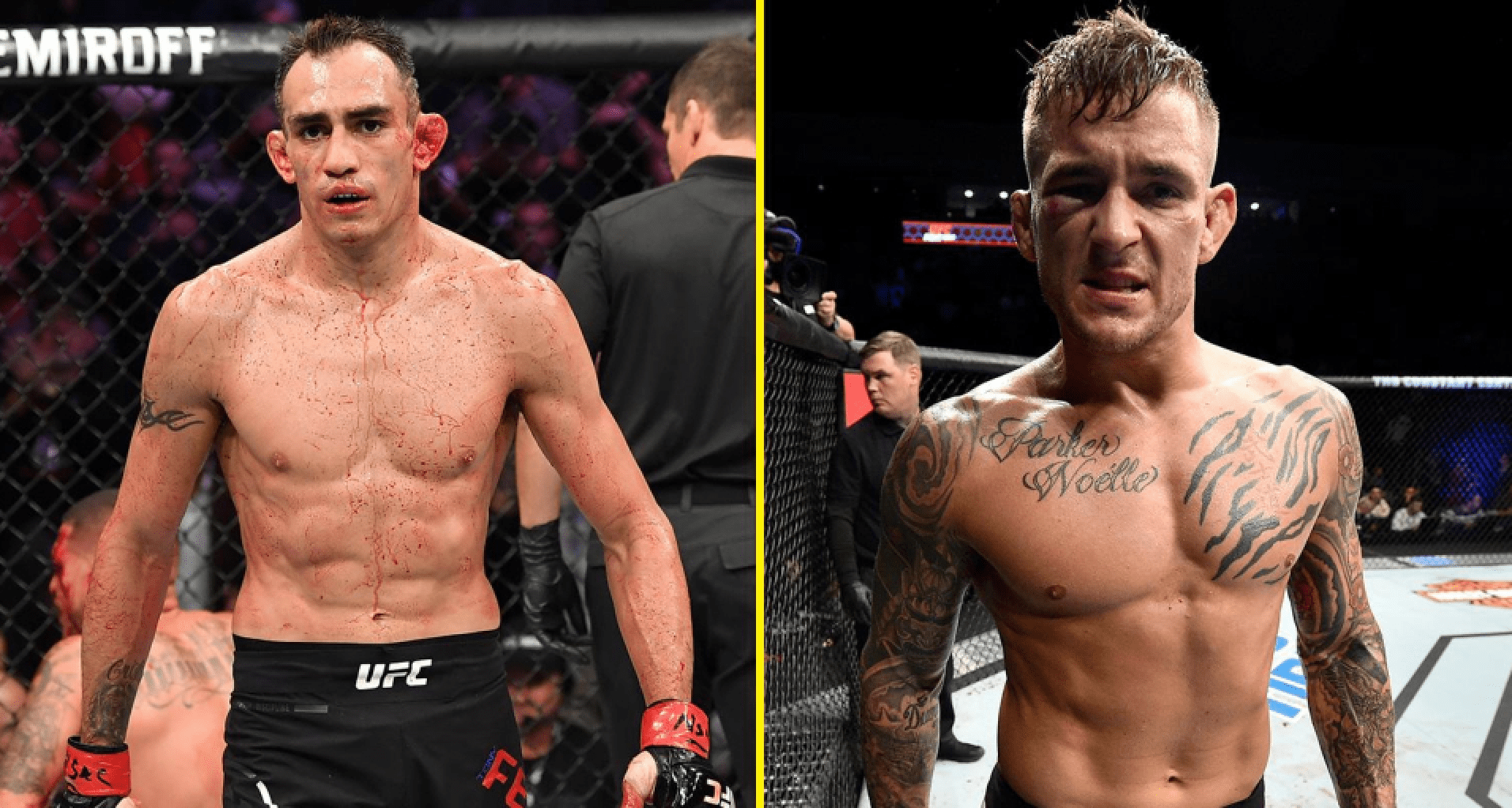 UFC Tony Ferguson and Dustin Poirier