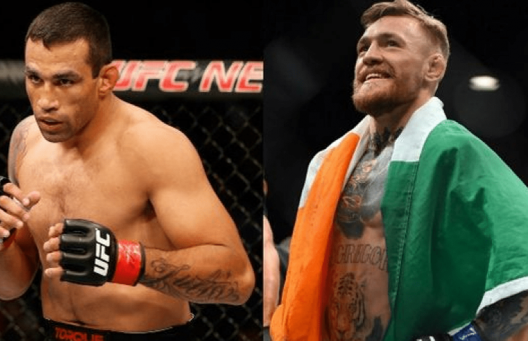 Conor McGregor And Fabricio Werdum Trade Shots