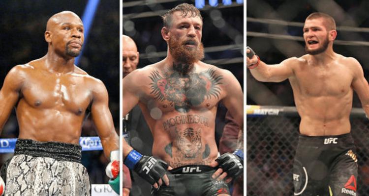 UFC boxing Floyd Mayweather, Conor McGregor, Khabib Nurmagomedov