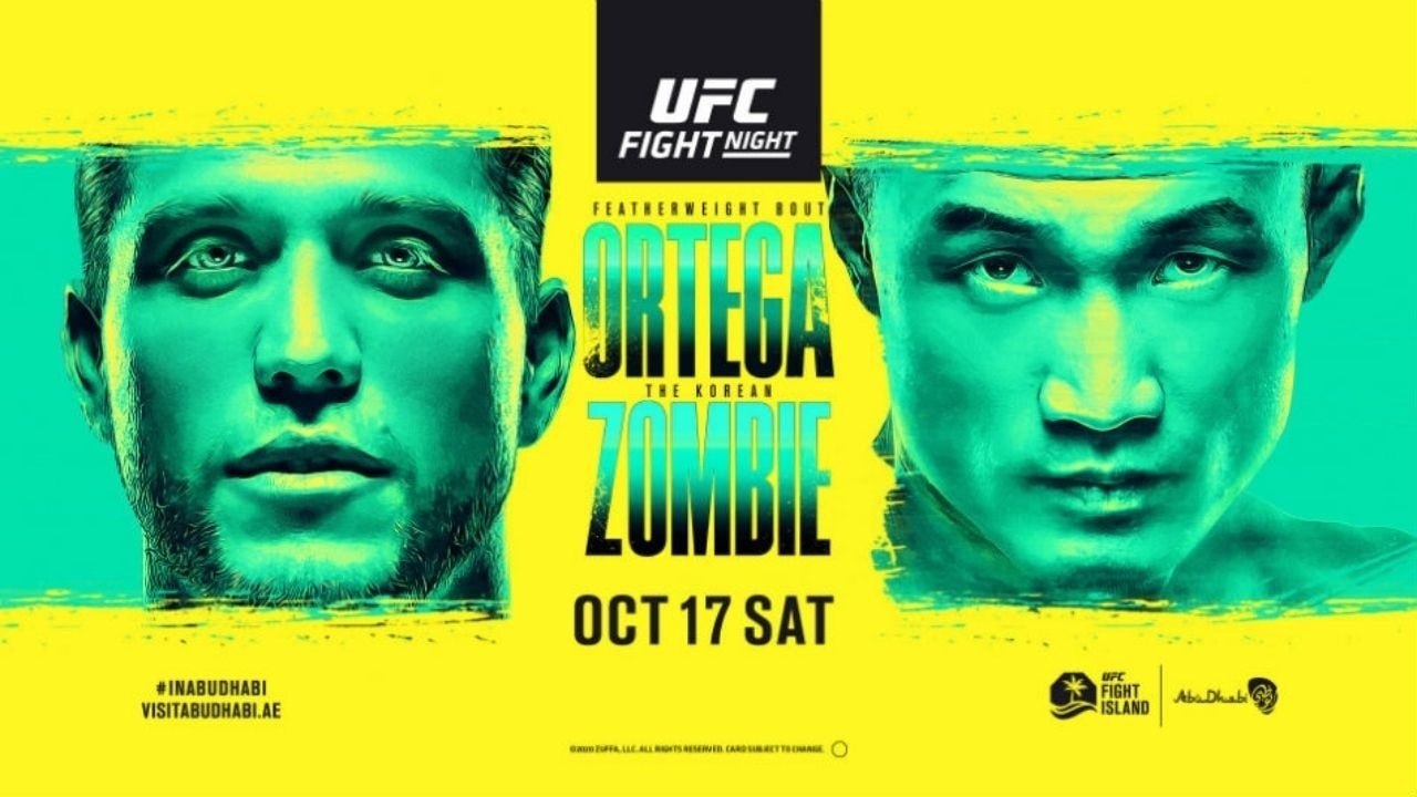 UFC Fight Island 6 Ortega vs Korean Zombie results
