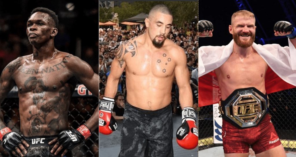 UFC, Israel Adesanya, Robert Whittaker, Jan Blachowicz