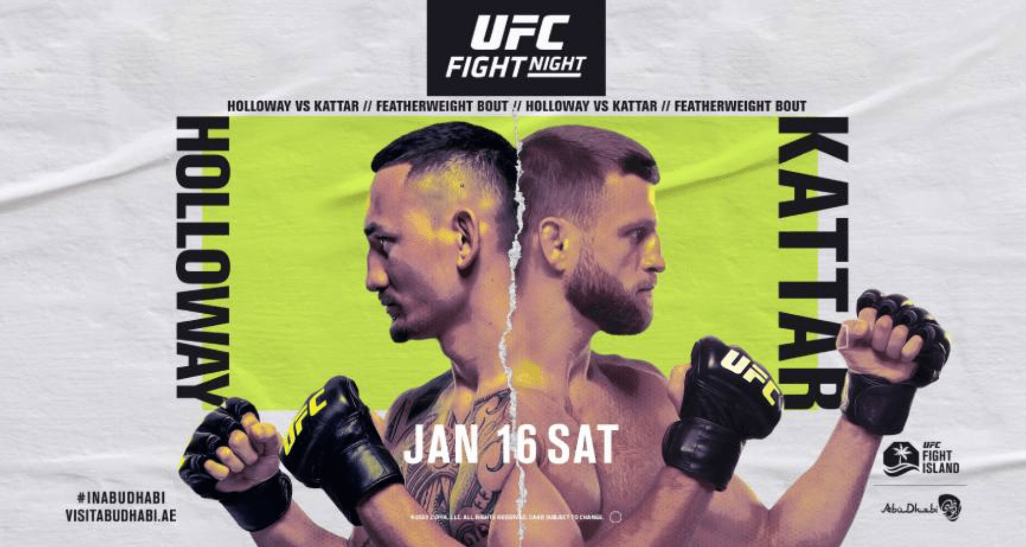 UFC Fight Island 7: Max Holloway vs Calvin Kattar results