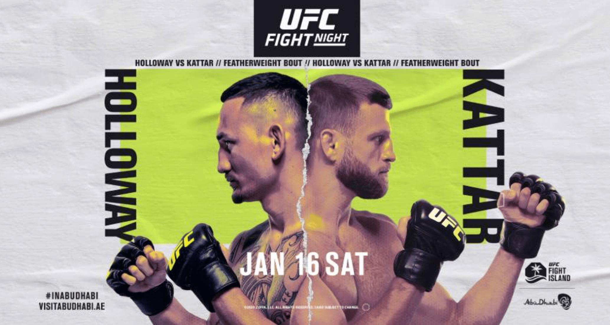 UFC Fight Island 7: Max Holloway vs Calvin Kattar results