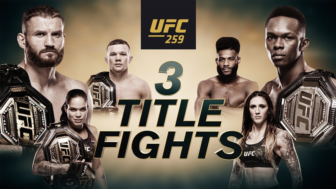 UFC 259, Adesanya, Blachowicz, Nunes, Anderson, Yan, Sterling