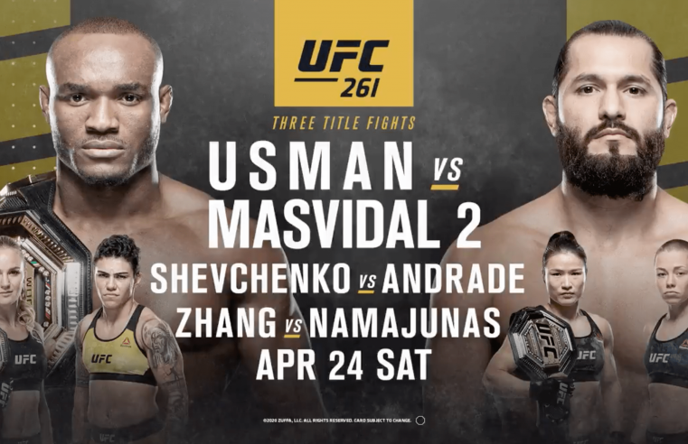 Usman vs Masvidal 2 To Headline UFC 261 In Florida With Fans