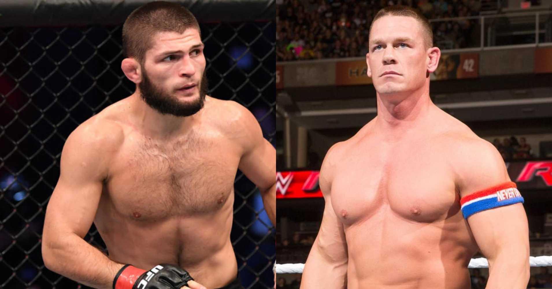 UFC, WWE, Khabib Nurmagomedov, John Cena