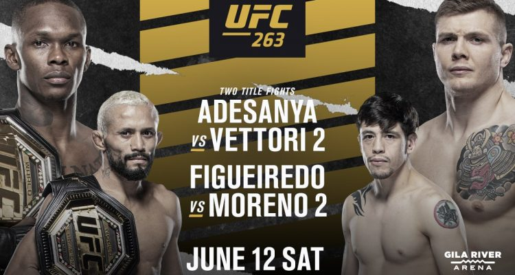 UFC 263, Adesanya, Vettori, Figueiredo, Moreno, Nate Diaz