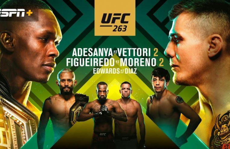 UFC 263: Adesanya vs Vettori Results And Post Fight Videos